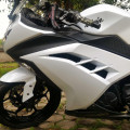 KAWASAKI NINJA 250 FI WHITE TH.2013 Bulan 7 muluss gress standart