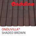 GENTENG ONDUVILLA WRN SHADED BROWN (1060 x 40 MM) - FREE SEKRUP 5 PCS