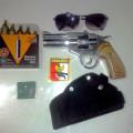 pistol Air gun...revolver & FN co2 made in lokal, peluru mimis silender 4,5 mm