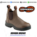 sepatu safety krusher nevadha brown
