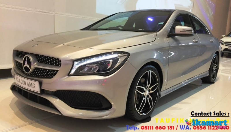 ready stock mercedes-benz cla 200 amg warna silver nik 2016