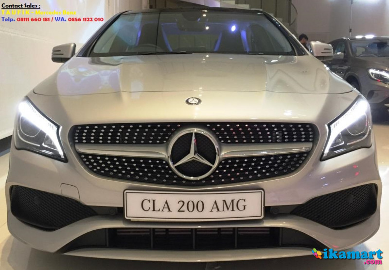 Ready stock mercedes benz cla 200 amg warna silver nik for Mercedes benz glowing star