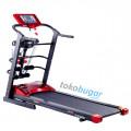 Treadmill Elektrik F2210, Banyak Fitur dan dilengkapi Dumble Untuk Aerobic.