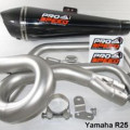knalpot prospeed underbelly black yamaha r25/mt25