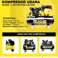 Kompresor Udara Ikame 1/2 PK Motor Listrik, Penunjang Usaha Cucian Kendaraan
