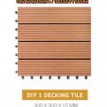 Decking Tile ( DIY 1 ) / Lantai WPC / Pagar WPC / Lantai Kolam Renang