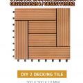 Decking Tile ( DIY 2 ) / Lantai WPC / Pagar WPC / Lantai Kolam Renang