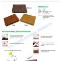 Duma Deck ( 5 Meter ) / Decking WPC / Lantai WPC / Lantai Kolam Renang