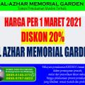 PROMO Diskon 20% Kavling Makam Al-Azhar Memorial Garden di Bulan Maret 2021