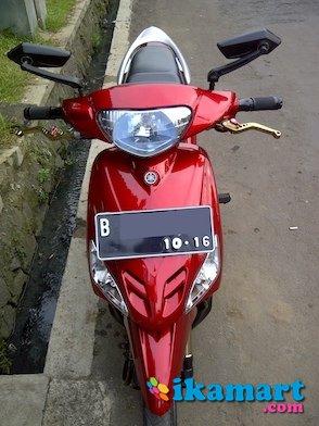 modifikasi motor mio merah marun  tahun ini