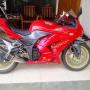 Kawasaki ninja 250 merah 2008