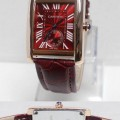 CARTIER Leather Strap (RG) For Ladies