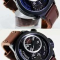 HARLEY DAVIDSON Dual Time HD-2014D Leather (BR) for Men