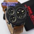Swiss Army SA2178 Triple Time Black Brown Leather