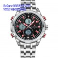 Naviforce 9049 Double Time Silver