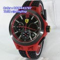 Ferrari Scuderia Race Red Black Rubber
